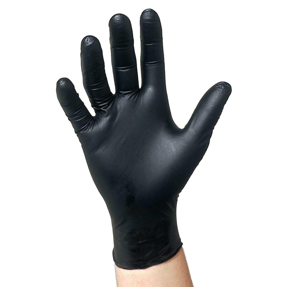 Black latex gloves xl -